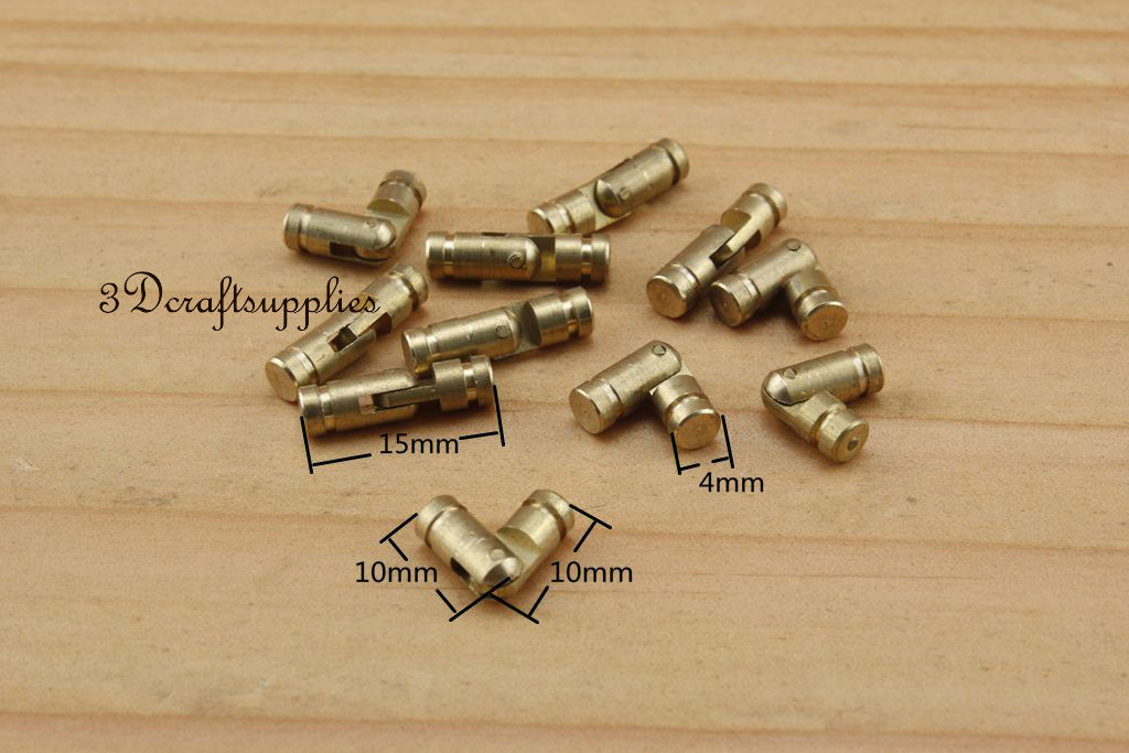 Металлические петли cylindrial шкатулка деревянная создание анти латунь 10 мм 18 шт. H51
