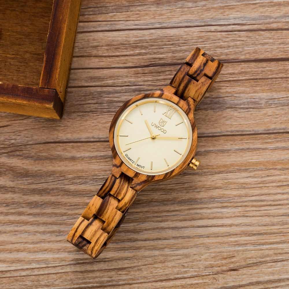 Reloj de madera de MUYES para mujer, reloj de pulsera de madera de cuarzo Uwood, marca de lujo, reloj de pulsera de mujer, marca de lujo 2018