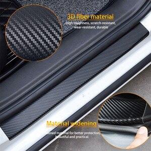 Image 2 - Placa de puerta de fibra de carbono para coche, pegatinas antiarañazos, para kia Ceed Suzuki grand vitara SX4 Subaru Saab 9 3 Lada Alfa Romeo159, 4 Uds.