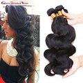 """Não transformados virgem peruano onda do corpo do cabelo 4 pcs lot peruano virgem cabelo preto natural 100 g/pc 8 """"-30"""" extensões de cabelo humano"""