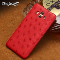Wangcangli Genuine leather phone case for Huawei mate 10 mobile phone protective case Ostrich skin Half pack phone case