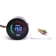 CNSPEED 52mm 12V water temperature gauge meter car LCD light With Sensor Digital Display auto water temperature gauge meter