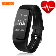 ARYAGO S1 Smartband IP67 Waterproof Wristband Bracelet with Smart Heart Rate Fitness Touchpad LED Wearable Devices Wristbands