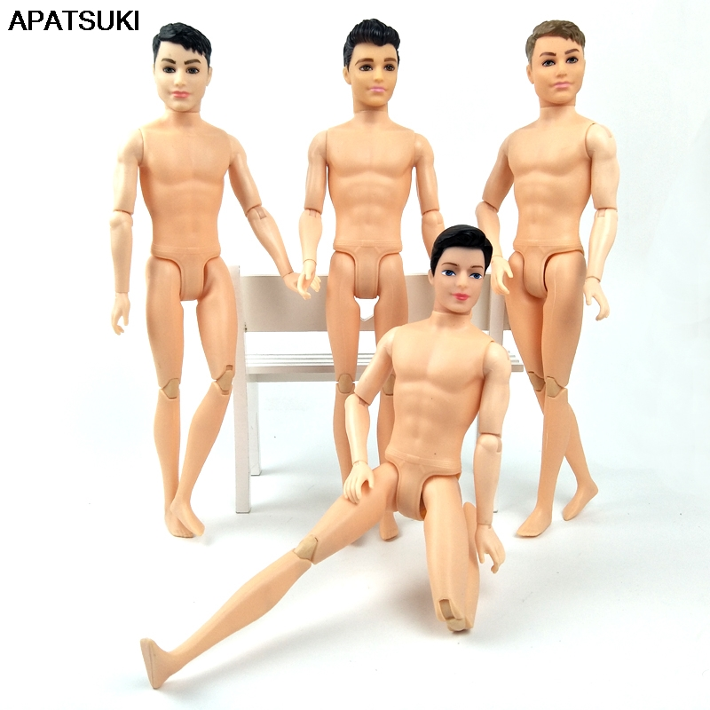 30cm 11 Moveable Jointed Boy Doll Ken Male MAN Naked Body Boyfriend Prince Nude Doll DIY Learning Toy For Children Toy Doll Body