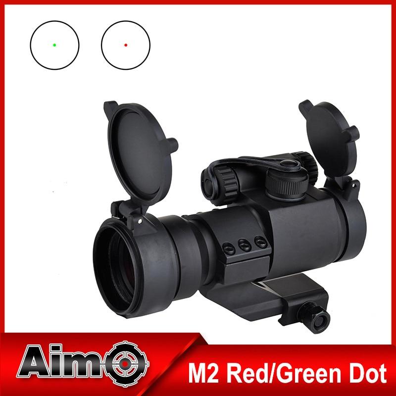 Element Hunting Rifle Riflescope 32mm M2 Sighting  Reflex Green Red Dot Spotting Scope Weaver Rail Cantilever Mount AO5033