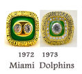 Free shipping NFL ring 1972 1973 Miami Dolphins super bowl replica Championship Rings Size 11 high quality