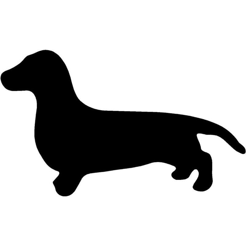 12.7*7.6CM Dachshund Dog Cute Animal Car Cover Scratch Decorative Sticker Motorcycle Accessories C6-1683