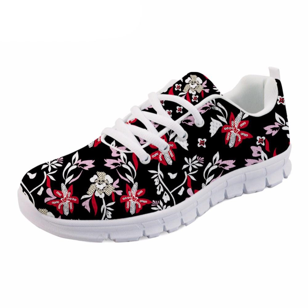 h8686aq Printemps Plates Fleur Femmes Respirant h8688aq Mode h8689aq Aq Custom Noir Plantes h8687aq Imprimer Chaussures Personnalisé h8685aq Tropical Confortable Plat Sneakers ETpq8