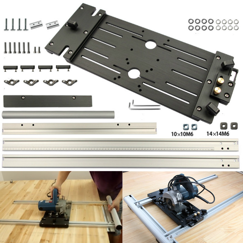 Universal Circular Saw Guide Woodworking Electric Circular Saw Rail For Marble Machine Panel Cutter Cutting Trimming Machine