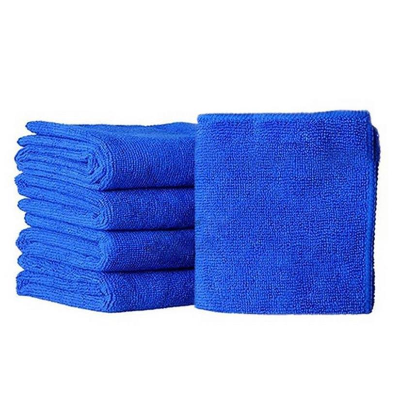 10Pcs 30*30cm Soft Microfiber Cleaning Towel Car Auto Wash Dry Clean Polish Cloth Wax Car Care Styling Cleaning Microfibre H0420