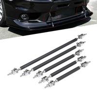 Professional 2 X Adjustable Front Bumper Lip Splitter Strut Tie Bar Support Rod 75 200mm Carbon