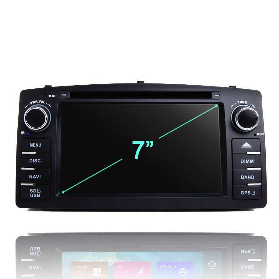 IPS DSP 2din アンドロイド 9.0 カー Dvd プレーヤー 8 コア 64 ギガバイト ROM 4 ギガバイト RAM GDS autoradio Bluetooth 4.0 wifi GPS map トヨタカローラ E120