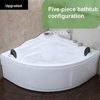 Настенный угол ванны, домашняя треугольная акриловая ванна, Высококачественная ванная ванна, домашняя двухместная ванна для взрослых 1,4 м,