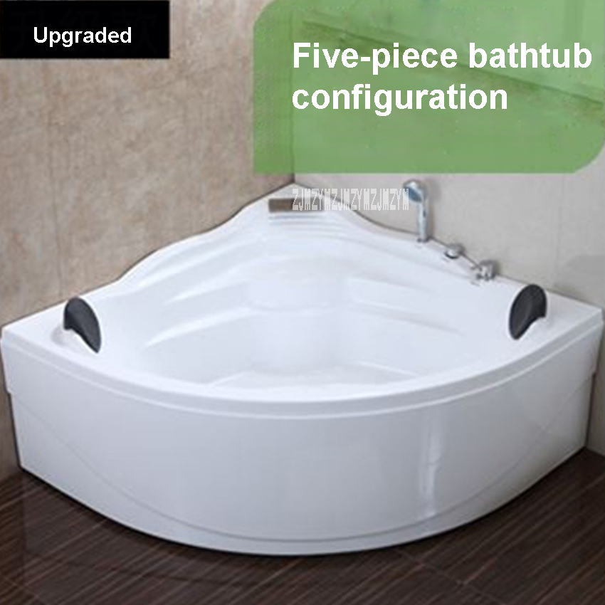 Mur coin baignoire ménage triangulaire acrylique baignoire de haute qualité salle de bain baignoire maison deux personnes adulte baignoire 1.4 M offre spéciale