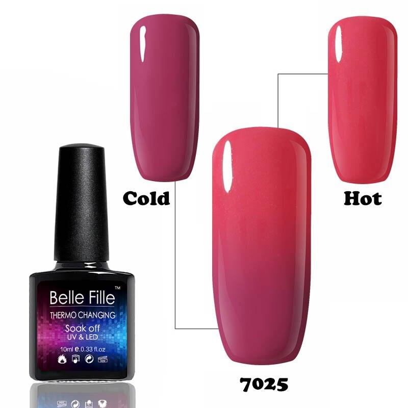 Belle Fille 10ml Soak Off Temperture Color Style UV Led Holographic ...