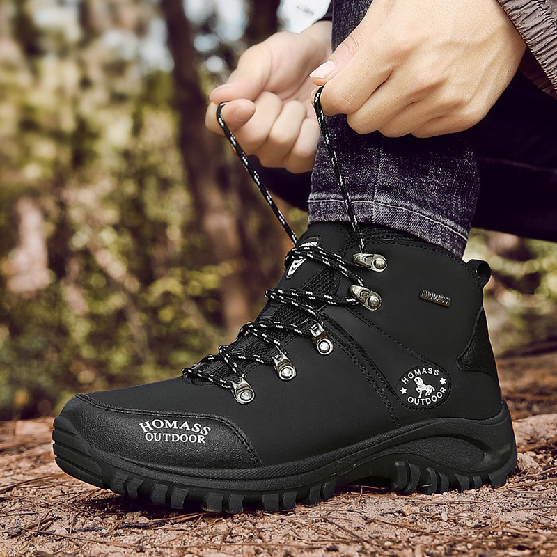 mens high walking boots