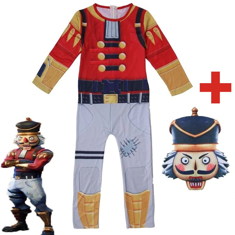 ZSQH Fortnight Crackshot Jumpsuit Cosplay Costume Battle Royale for kids adult FORTRESS night fortnited