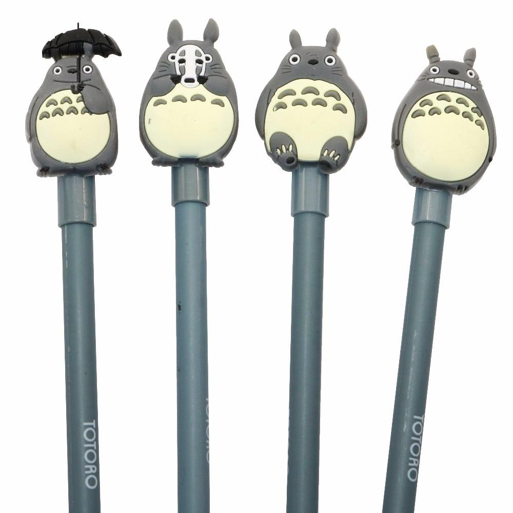 4 Pcs Cute My Neighbor Totoro Gel Ink Pen Creative Stationery Office Gel Pens Writing Tool Supplies Cute School Supplies