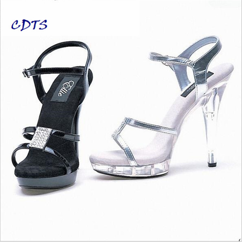 Здесь продается  CDTS wedding/bride shoes women 2016 summer Crystal platform zapatos mujer 13cm thin heels Sandals pumps Free shipping Plus:35-46  Обувь