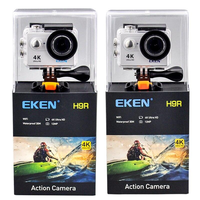 EKEN H9 H9R Ultra FHD 4 k 25FPS 30 m à prova d' água 1080 p 60fps Wi-fi Câmera de Ação subaquática ir Remoto extreme pro esporte cam