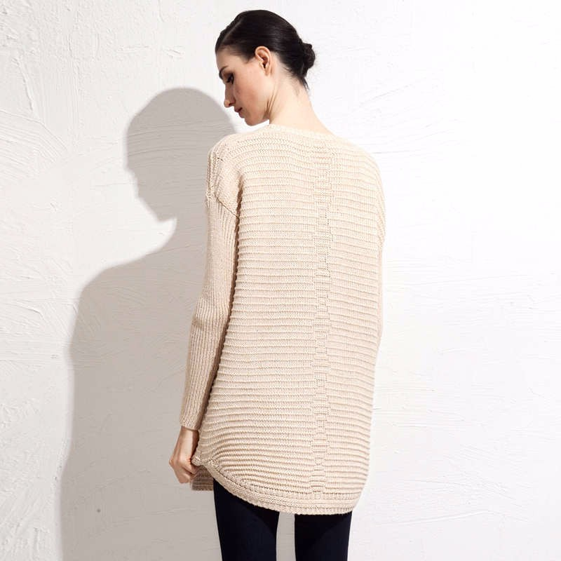 Wool Blends fall mid length sweater 3