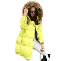 2017 Winter Jacket Women Cotton Padded Winter Coat Women Parka Thick Fur Hood Plus Size Jaqueta