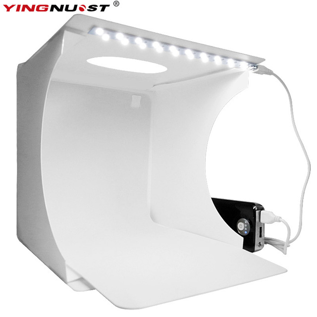 Folding LED Lightbox Light Tent Portable Photography Studio Softbox Desktop Light box for DSLR Camera iPhone  sc 1 st  AliExpress.com & Folding LED Lightbox Light Tent Portable Photography Studio ...
