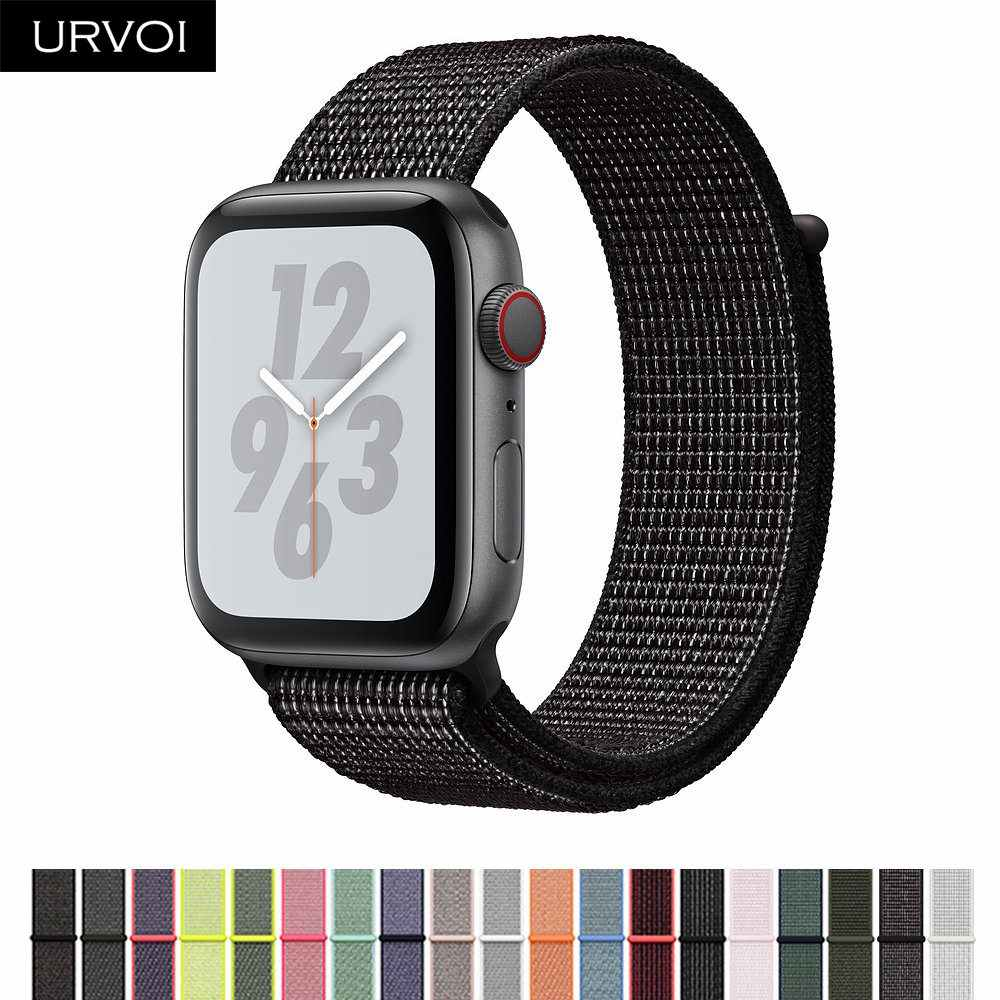 URVOI 2019 Sport loop for apple watch series 4 3 2 1band reflective strap for iWatch band double-layer HOOk&LOOP Pride edition