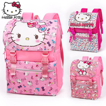 Hello Kitty Backpack Cartoon Fashion Christmas Gift Baby KT Pink Multifunctional Backpack Girl Schoolbag Shoulder Plush Travel hello kitty plush toys for children pink veil kt doll baby gifts