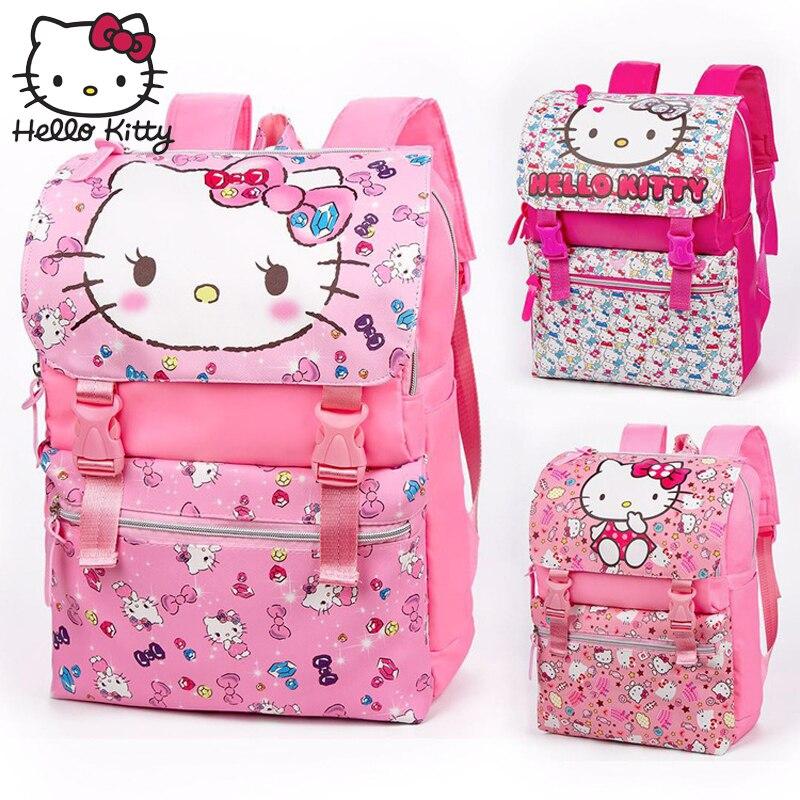 Hello Kitty sac à dos Cartoon mode cadeau de noël bébé KT rose multifonctionnel sac à dos fille cartable épaule peluche voyage