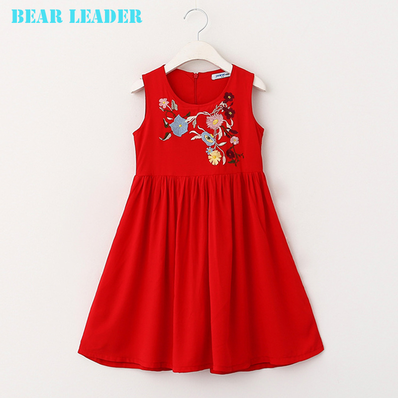 Подробнее о Bear Leader Girls Dresses 2016 Brand Children Dress Princess Costume Kids Dresses for Girl Clothes Cotton Embroidered Girl Dress bear leader girl dresses 2016 brand girls costumes princess dress kids clothes sleeveless bow plaid pattern girls dress children