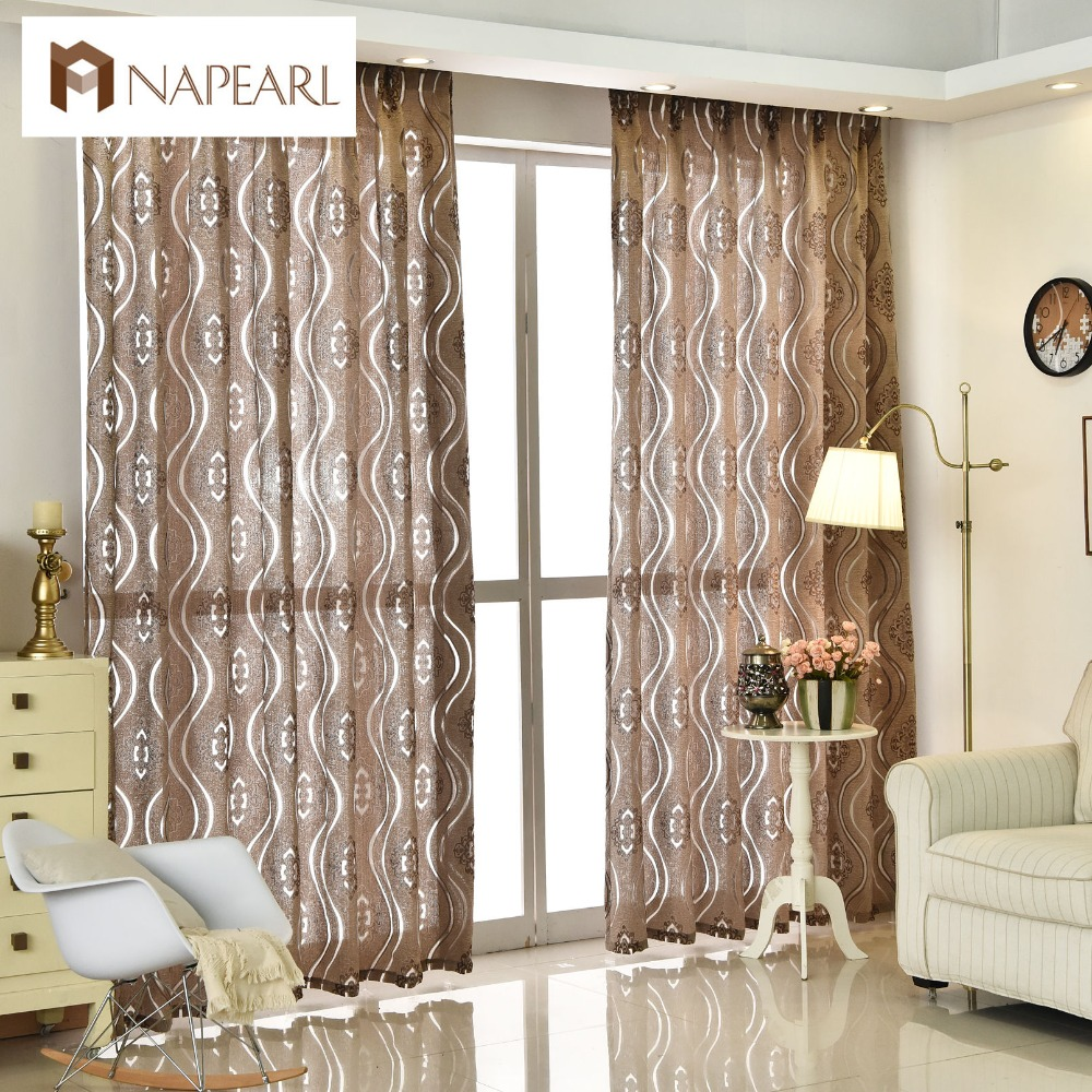 living room panel curtains modern jacquard curtain home decoration living room 15500