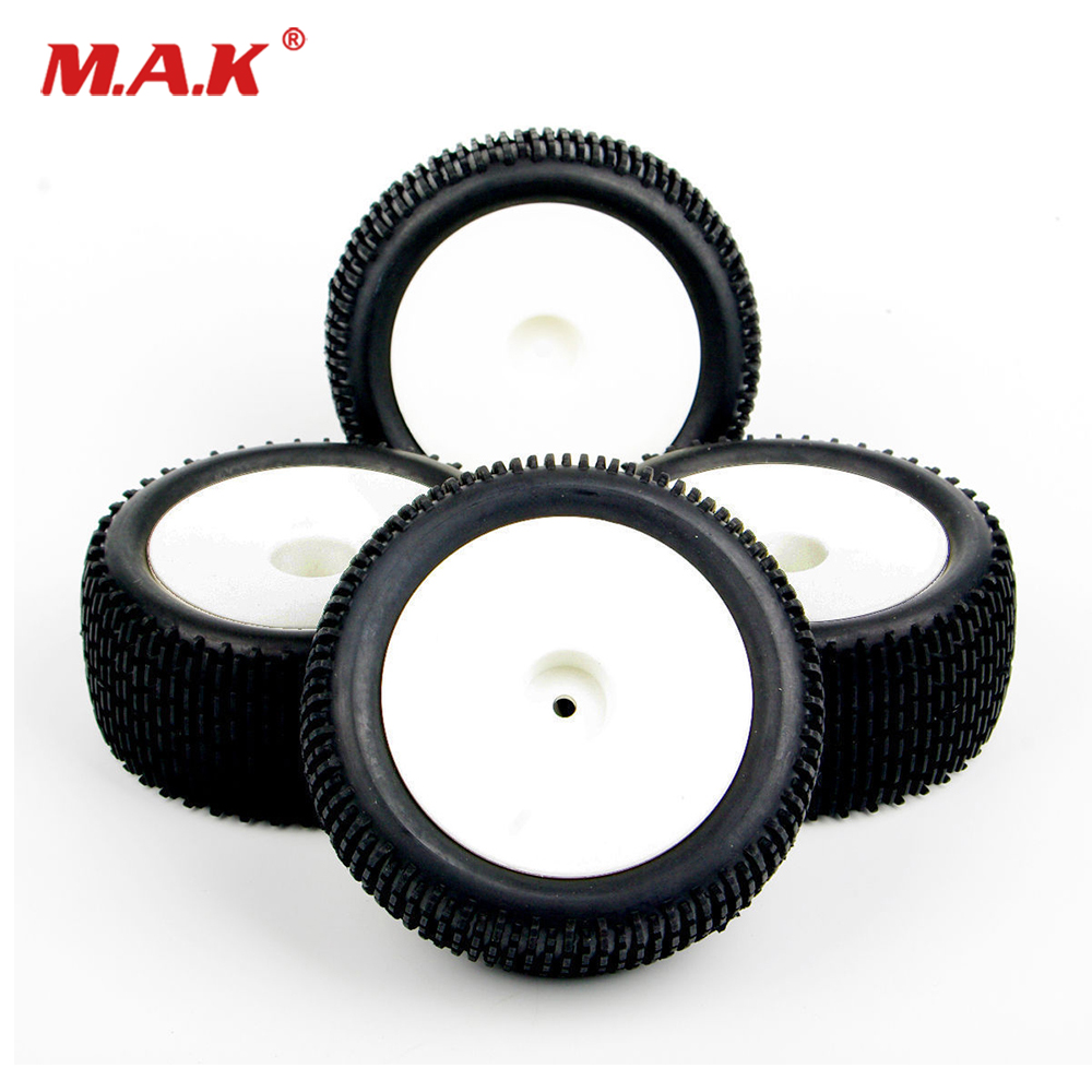 4pcs/set RC HSP Front And Rear Rubber Tires Wheel For 1:10 25024+2701 Off-Road Buggy Car For HPI HSP RC Buggy Off-Road Car