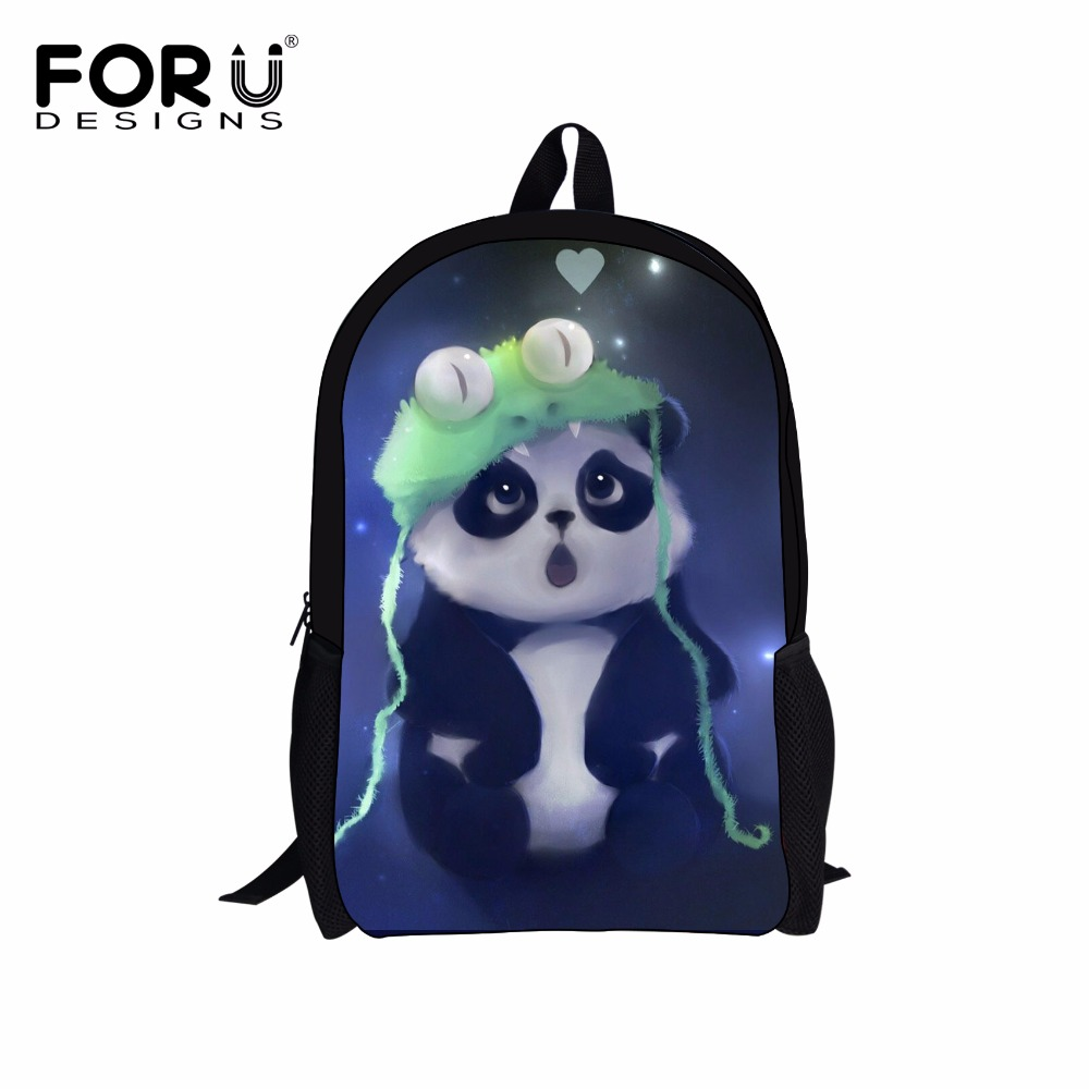 FORUDESIGNS 2018 Fashion Children School Bags Casual Shoulder Book Schoolbag Cute 3d Panda Kids Mochilas Infantil For Teen Girls