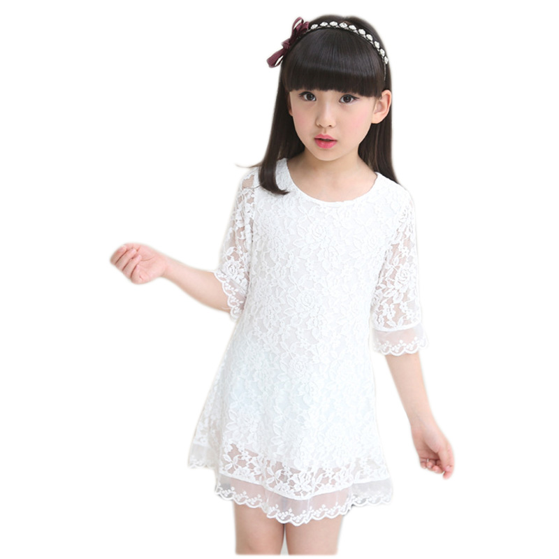 Yükle (800x800)white lace baby big girls party dress and weddings clothes  kids mesh infant girl princess dress children summer 2018 new dress -купить  white ... 7a327e2be56e