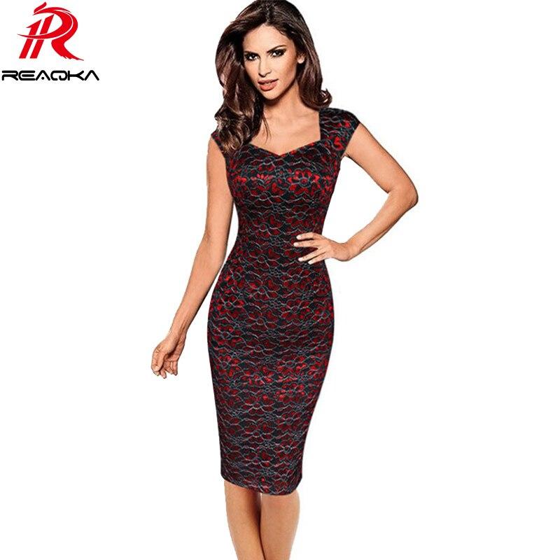 Reaqka Plus Size Women Summer Work Office Dress 2017 New