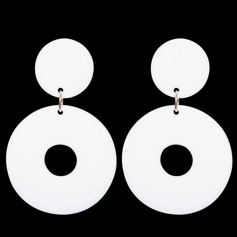 2016 velike naušnice za žene modne žene kvalitetne bijele crne - Modni nakit - Foto 2