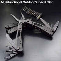 High Quality Outdoor Survival Multifunction Plier Stainless Tungsten Alloy Pocket Multi tools Knife Camping Kit