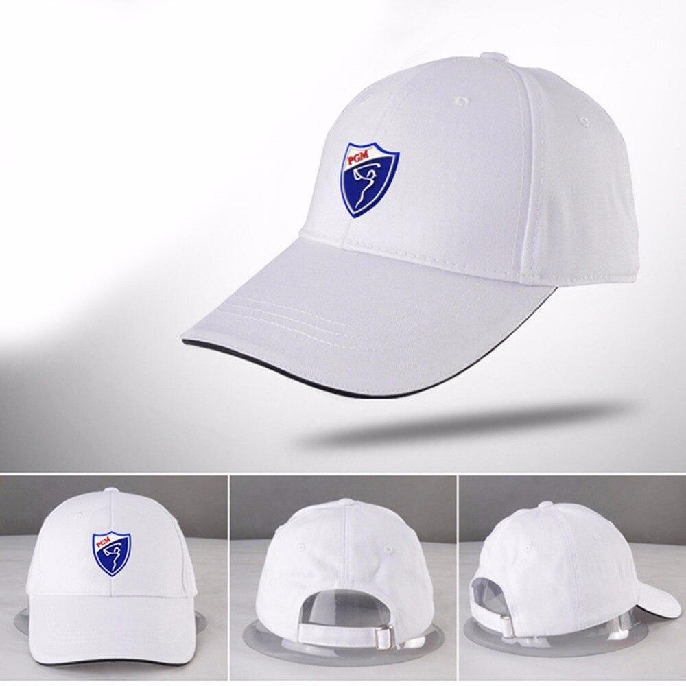 Prix pour Nouvelle pgm de golf chapeau de golf caps coton de golf solaire chapeau confortable Respirant De Golf Chapeaux Solide Couleur Sport Casquette à visière 6 couleurs