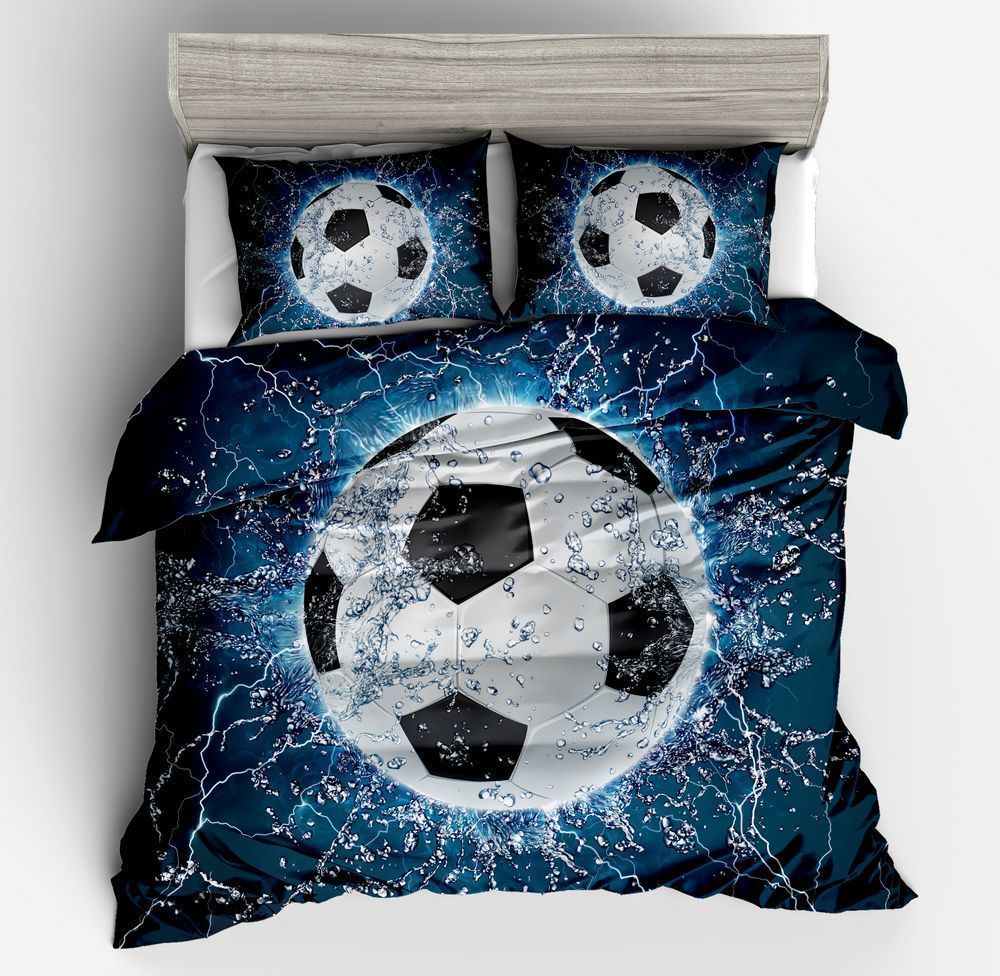 2018 New 3D Bedding Sets With Football High Quality Duvet Cover Set#N-YY-