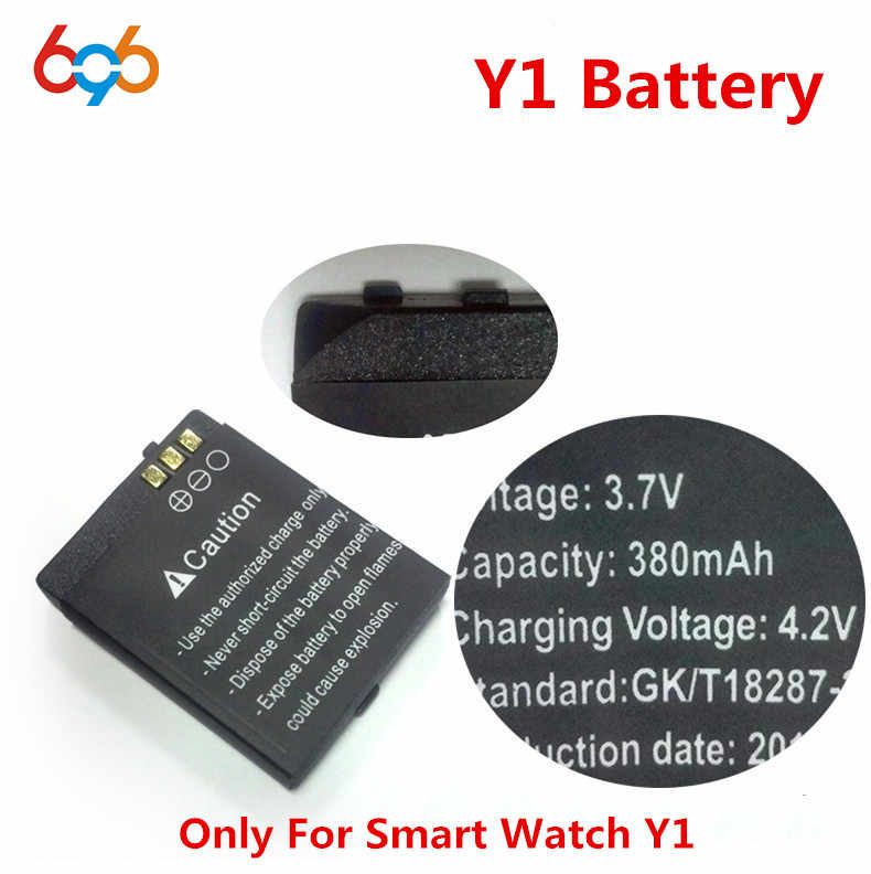 1PCS/Lot rechargeable Li-ion Battery 3.7V 380MAH Smart Watch Battery Replacement Battery only For Smart Watch Y1