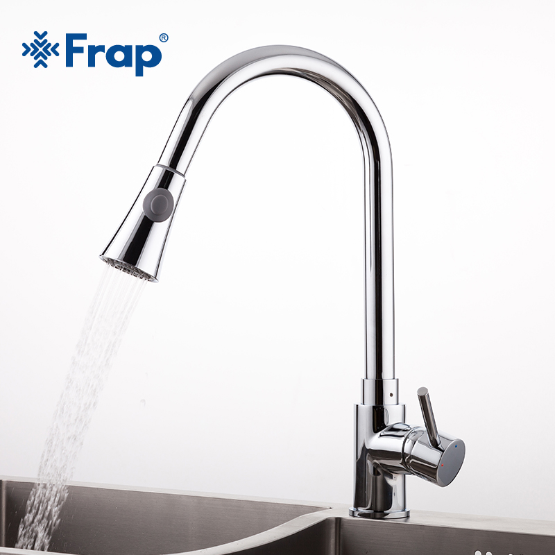 Frap new arrival 2018 Pull Out chrome brass Kitchen sink Faucet Mixer Tap Swivel Spout Sink Faucets Kitchen Faucet всё для лепки каляка маляка пластилин 8 цветов 120 г
