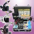 Principiante Kit de Tatuaje 3 Machine Gun Potencia Digital 10 Color de la Tinta de la Aguja WS-K302B Envío gratis