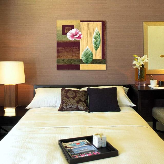 Bei colori dipinto su tela con fiori rossi è adatto per camera da ...