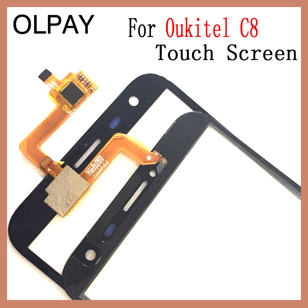 Image 2 - OLPAY 5.5'' Touch Glass Panel For Oukitel C8 Touch Screen Digitizer Glass Sensor Tools Free Adhesive+Clear Wipes-in Mobile Phone Touch Panel from Cellphones & Telecommunications