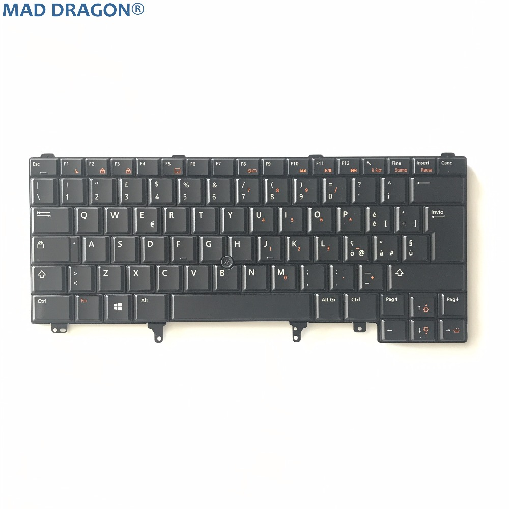 New Original Laptop Parts For DELL LATITUDE E6420 E6430  E6320 E5420 E5430 UK  Swiss  Track Point Keyboard 6RC5R 06RC5R