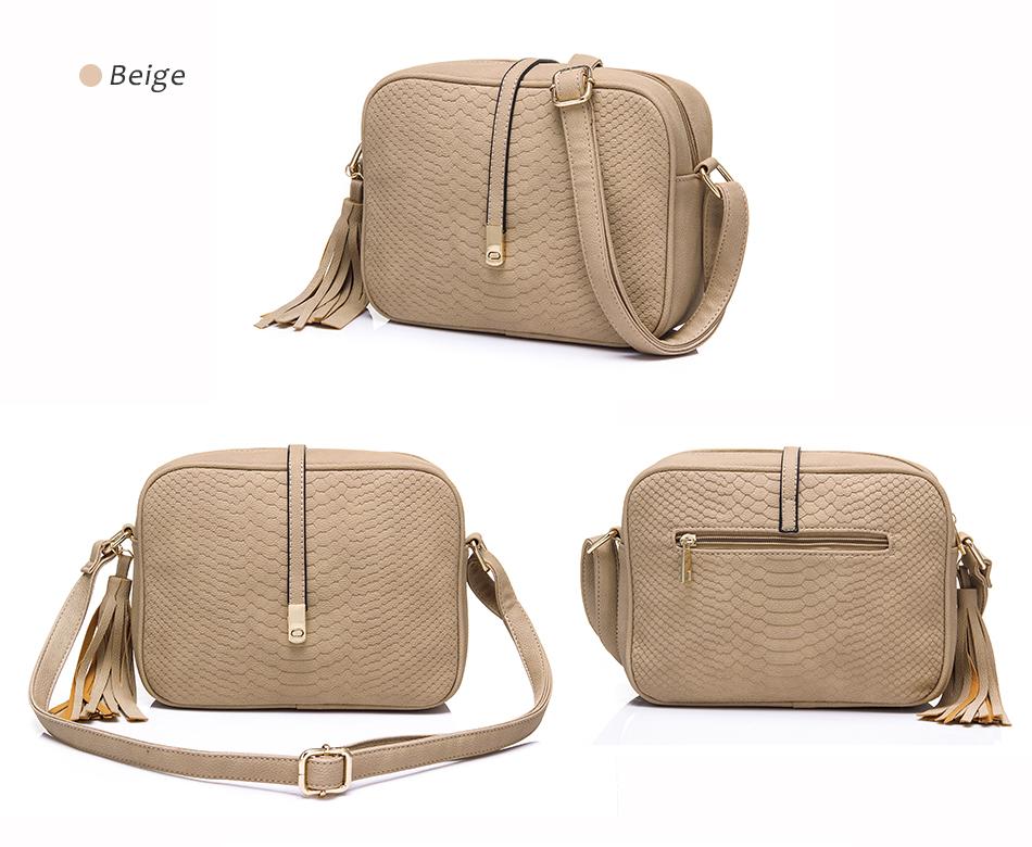 REALER brand small shoulder bag for women messenger bags ladies PU leather handbag purse tassels female crossbody bag women 2019 19