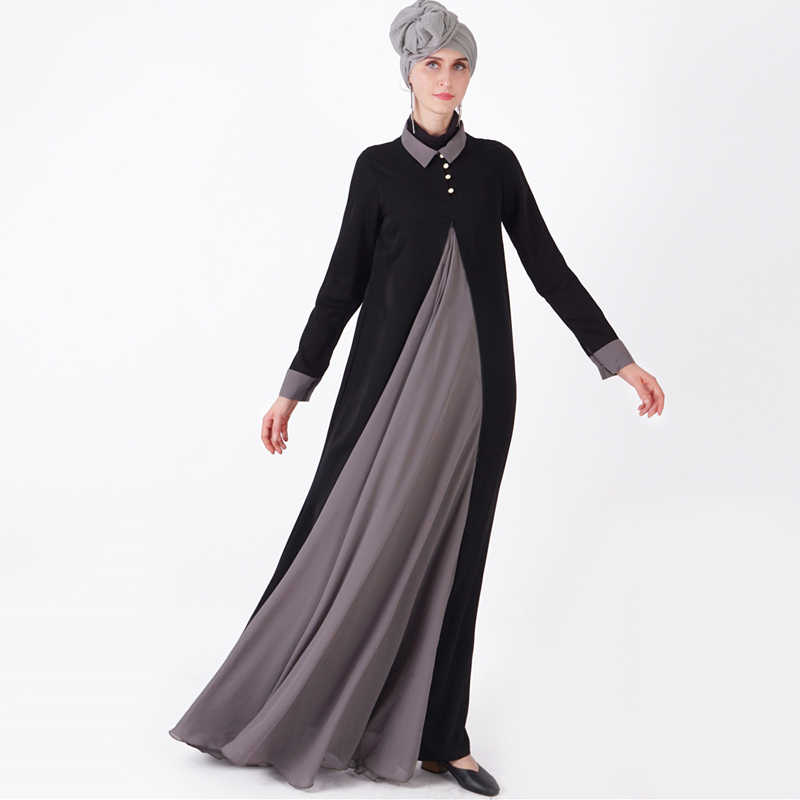 ee1b2c59a90f3 Splice Abaya Kaftan Hijab Muslim Dress Ramadan Turkey Dubai Women Caftan  Marocain Arab Turkish Tesettur Elbise Islamic Clothing