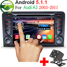 "2 Din 7 ""1024×600 Quad Core 1 GB/16 GB Android 5.1.1 PC Auto DVD GPS voor Audi A3 S3 2002-2011 Met Stereo Radio WiFi OBD DVR"