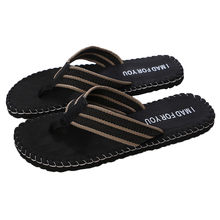 Outdoor indoor men's flip flops I MAD FOR YOU non-slip breathable slippers summer men's yellow black men shoes тапочки домашние(China)